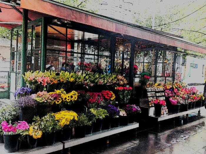 Melbourne flower kiosk.
