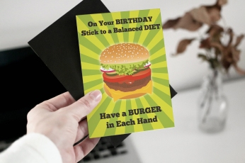 Burger Birthday Diet Greeting Card